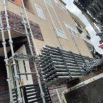 足場設置工事1 大阪市住吉区N様邸外壁塗装・屋根塗装工事   外壁・屋根塗装専門店 ペイントプロ