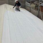 210528_屋根上塗り1_2|大阪市住吉区N様邸外壁塗装・屋根塗装工事 | 外壁・屋根塗装専門店 ペイントプロ