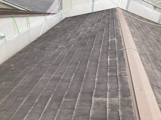 201524屋根高圧洗浄前紹介 大阪市住吉区N様邸外壁塗装・屋根塗装工事   外壁・屋根塗装専門店 ペイントプロ