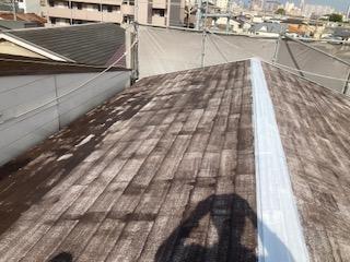 0525屋根塗装 プライマー乾燥中2|大阪市住吉区N様邸外壁塗装・屋根塗装工事 | 外壁・屋根塗装専門店 ペイントプロ