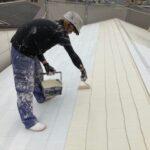 210528_屋根上塗り1|大阪市住吉区N様邸外壁塗装・屋根塗装工事 | 外壁・屋根塗装専門店 ペイントプロ