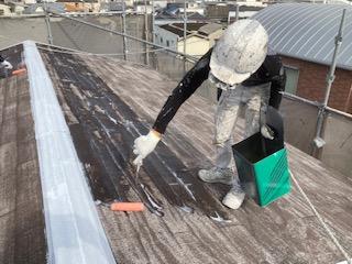 0525屋根塗装 プライマー塗布|大阪市住吉区N様邸外壁塗装・屋根塗装工事 | 外壁・屋根塗装専門店 ペイントプロ
