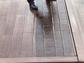 屋根高圧洗浄前後紹介 大阪市住吉区N様邸外壁塗装・屋根塗装工事   外壁・屋根塗装専門店 ペイントプロ