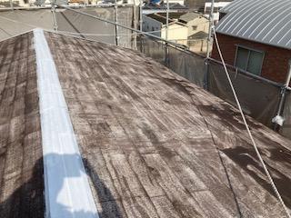 0525屋根塗装 プライマー乾燥中|大阪市住吉区N様邸外壁塗装・屋根塗装工事 | 外壁・屋根塗装専門店 ペイントプロ