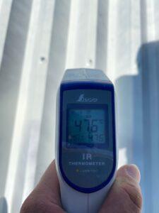 温度比較D|屋根塗装後47.6℃|O牧場様屋根塗装工事 | 大阪市の外壁塗装・屋根塗装専門店 ペイントプロ