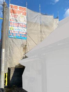 足場設置工事完了3|K様邸外壁塗装工事 | 大阪市の外壁塗装・屋根塗装専門店 ペイントプロ