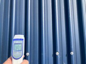 温度比較A|屋根塗装前50.7℃|O牧場様屋根塗装工事 | 大阪市の外壁塗装・屋根塗装専門店 ペイントプロ