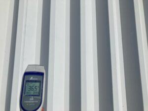 温度比較A|屋根塗装後36.5℃|O牧場様屋根塗装工事 | 大阪市の外壁塗装・屋根塗装専門店 ペイントプロ