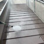 210702_高圧洗浄中 大阪市住吉区K様邸外壁塗装・屋根塗装工事   外壁・屋根塗装専門店 ペイントプロ