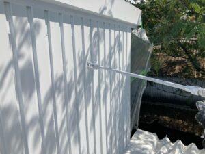 壁_上塗り2回目 O牧場様屋根塗装工事   大阪市の外壁塗装・屋根塗装専門店 ペイントプロ