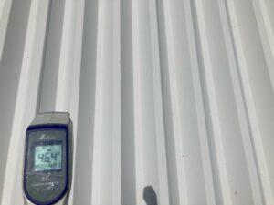 温度比較C|屋根塗装後46.4℃|O牧場様屋根塗装工事 | 大阪市の外壁塗装・屋根塗装専門店 ペイントプロ