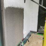 2C_K様邸外壁塗装・屋根塗装工事 外壁下塗り作業写真/大阪市住吉区・東住吉区の外壁・屋根塗装専門店 ペイントプロ