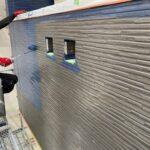 Y様邸外壁塗装・屋根塗装工事 外壁塗装工事 色替え上塗り中/大阪市住吉区・東住吉区の外壁・屋根塗装専門店 ペイントプロ
