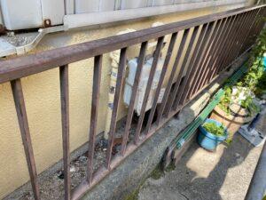 210726_柵ケレン前 K様邸外壁塗装工事   大阪市の外壁塗装専門店 ペイントプロ
