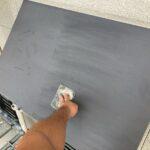 2_K様邸外壁塗装・屋根塗装工事 庇鉄部ケレン作業写真/大阪市住吉区・東住吉区の外壁・屋根塗装専門店 ペイントプロ