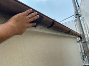 210730_雨樋ケレン中 K様邸外壁塗装工事   大阪市の外壁塗装専門店 ペイントプロ