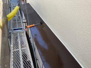 210730_庇A上塗り 鉄部塗装工事 K様邸外壁塗装工事