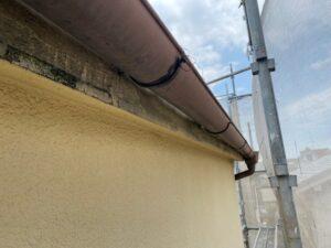 210726_雨樋錆止め塗布後 K様邸外壁塗装工事   大阪市の外壁塗装専門店 ペイントプロ