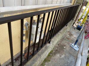 210726_柵錆止め塗布完了 K様邸外壁塗装工事   大阪市の外壁塗装専門店 ペイントプロ