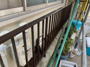 210730_柵上塗り完了 鉄部塗装工事 K様邸外壁塗装工事