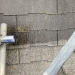 3_K様邸外壁塗装・屋根塗装工事 屋根高圧洗浄比較写真/大阪市住吉区・東住吉区の外壁・屋根塗装専門店 ペイントプロ