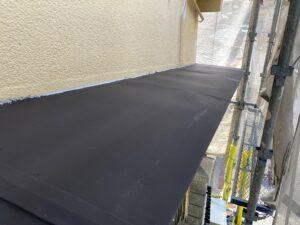 210726_庇B錆止め塗布完了 K様邸外壁塗装工事   大阪市の外壁塗装専門店 ペイントプロ