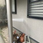 2A_K様邸外壁塗装・屋根塗装工事 外壁高圧洗浄作業写真/大阪市住吉区・東住吉区の外壁・屋根塗装専門店 ペイントプロ