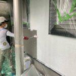 2A_K様邸外壁塗装・屋根塗装工事 外壁下塗り作業写真/大阪市住吉区・東住吉区の外壁・屋根塗装専門店 ペイントプロ