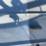 Y様邸外壁塗装・屋根塗装工事 屋根上塗り1回目中1写真/大阪市住吉区・東住吉区の外壁・屋根塗装専門店 ペイントプロ