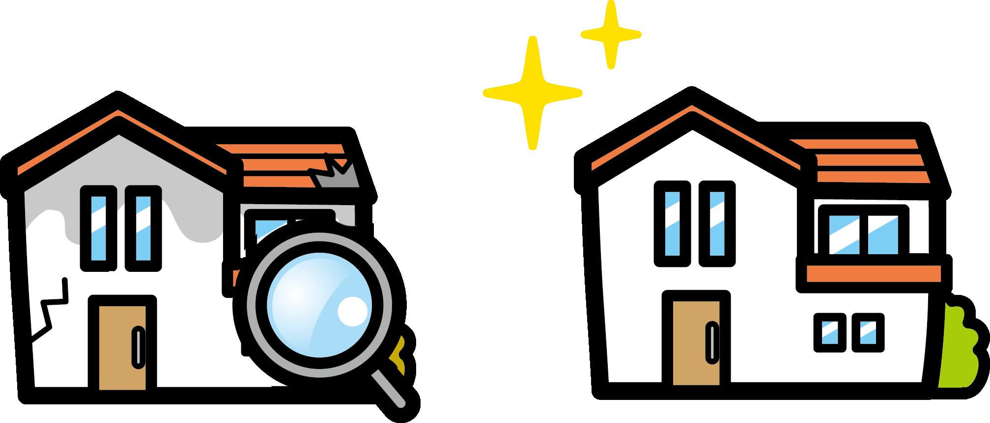 外壁 点検 綺麗な家//大阪市住吉区・東住吉区の外壁・屋根塗装専門店 ペイントプロ