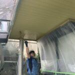 K様邸外壁塗装・屋根塗装工事 付帯塗装工事軒天井塗装5/大阪市住吉区・東住吉区の外壁・屋根塗装専門店 ペイントプロ
