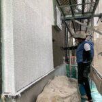 K様邸外壁塗装・屋根塗装工事 B外壁塗装上塗工事1/大阪市住吉区・東住吉区の外壁・屋根塗装専門店 ペイントプロ