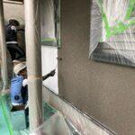 K様邸外壁塗装・屋根塗装工事 A外壁塗装上塗工事1/大阪市住吉区・東住吉区の外壁・屋根塗装専門店 ペイントプロ