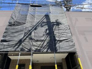 Y様邸外壁塗装・屋根塗装工事 足場設置工事写真/大阪市住吉区・東住吉区の外壁・屋根塗装専門店 ペイントプロ