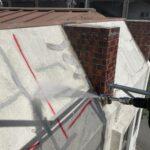 M様邸外壁塗装工事 高圧洗浄中写真/大阪市住吉区・東住吉区の外壁・屋根塗装専門店 ペイントプロ